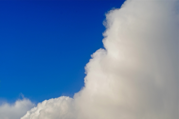 Blue sky and big, puffy, white cloud