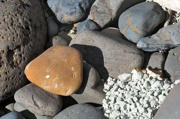 Small rocks on beach