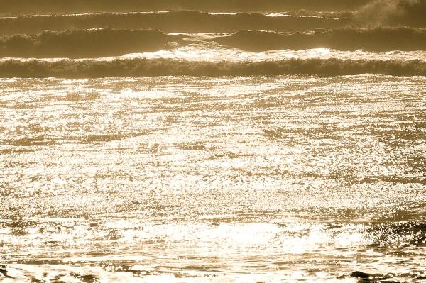 Sepia-toned surf