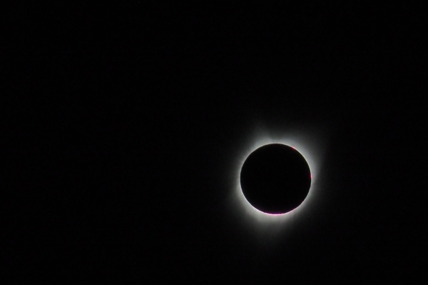 Total Solar Eclipse - black sun and its corona