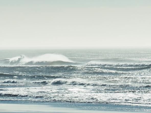 Coast, waves and sky