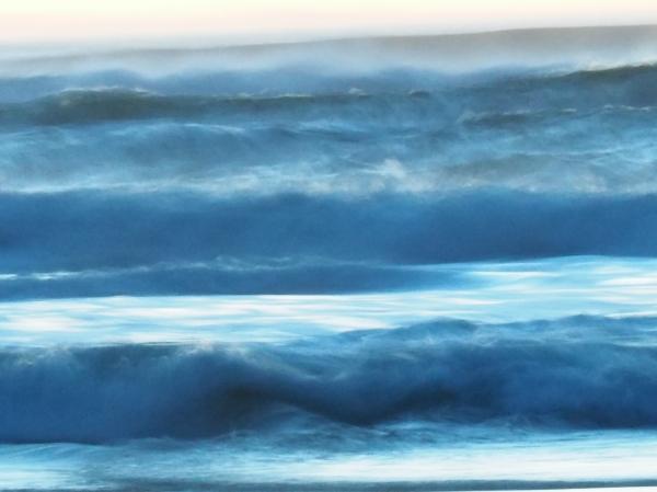 silky blue surf
