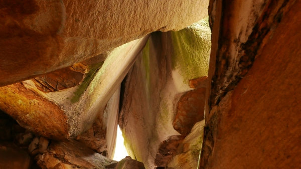 Sandstone walls and passages