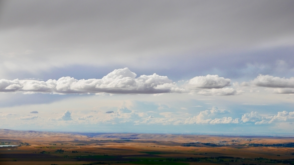 Clouds and Rolling Landscape