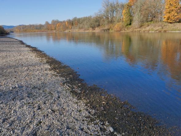River and gravel beach